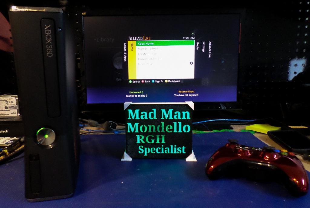 Xbox 360 Slim RGH Trinity Model | By Tony Mondello